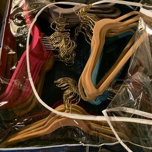 Other - Packs of 12 Velvet covered huggable hangers NWOT